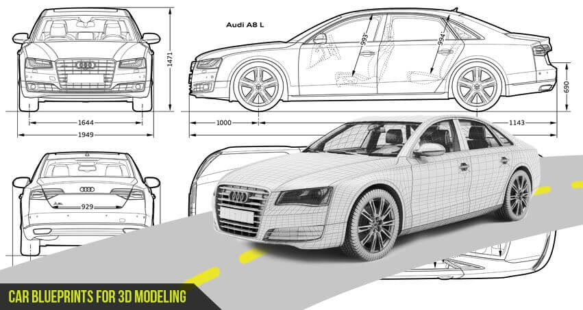Most loved car blueprints for 3d modeling inspiredose malvernweather Choice Image
